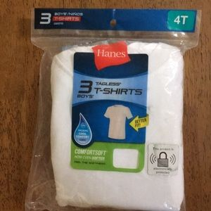 Hanes tagless 4T undershirts in the package